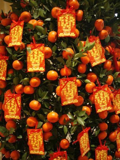 tangerine good luck symbols chinese  year decoration