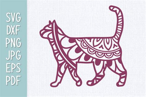 This free svg cutting file contains the following formats if you wish to share our free cutting files or images on your blog or social media, please ensure you link directly to this page rather than the cutting file download link and provide a full credit link to us. Cat Mandala SVG