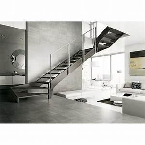 Escalier 1 4 Tournant Droit : escalier bois droit quart ou deux quarts tournant sur mesure ~ Dallasstarsshop.com Idées de Décoration