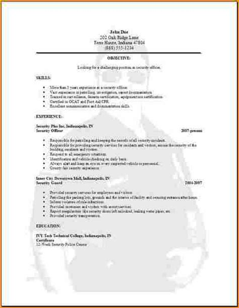Exle Of Simple Resume For Application by 5 Simple Resume Exles Basic Appication Letter