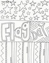 Flag Coloring Doodle Alley sketch template