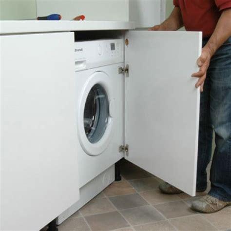 linge de cuisine installer plan de travail sur machine a laver maison
