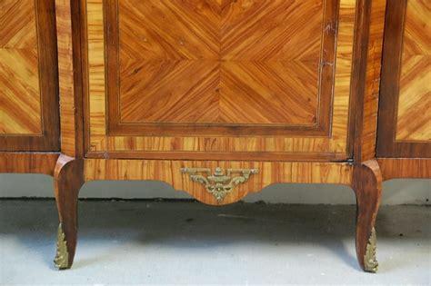 meuble argentier ancien vitrine marqueterie louis xv