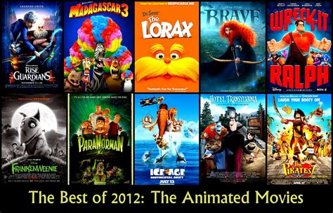 The Best Animated Movies Of 2012