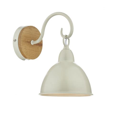 cream metal wall light dar bly0743 1 light wall light blyton wooden with cream