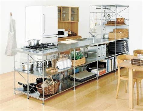 stainless shelves industrial kitchen pinterest kitchen muji stainless steel unit shelf kitchen