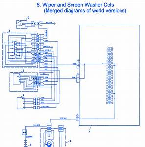 Fiat Tempra 1990 Washer Electrical Circuit Wiring Diagram