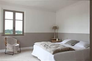 chambre deco idee deco chambre adulte couleur taupe With exemple de couleur de chambre