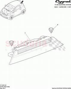Aston Martin Cygnet Centre Stop Lamp Parts