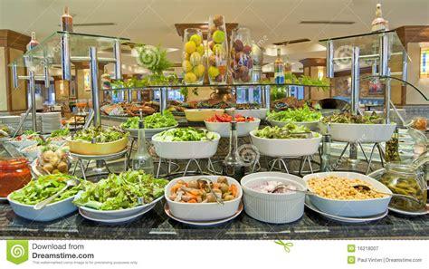 buffet bar cuisine salad buffet in a luxury hotel restaurant stock image