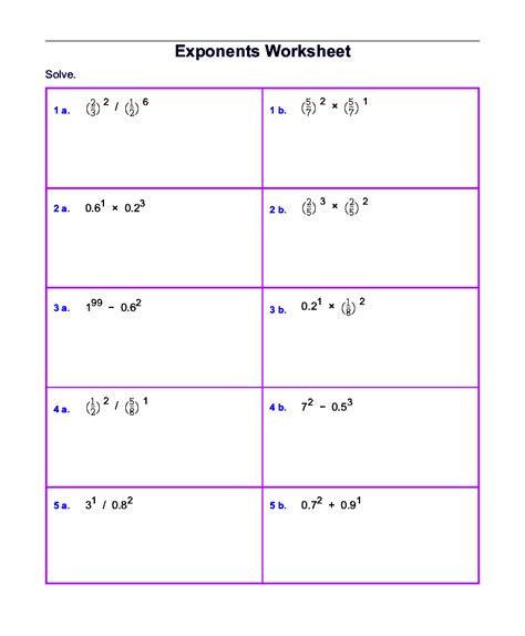 Year Fifth5th Grade Math Worksheets Printable