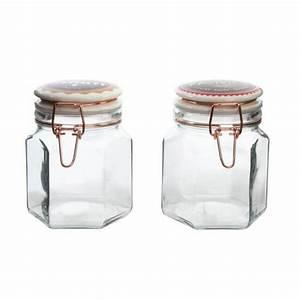 Pot En Verre Deco : pot bocal en verre avec couvercle h rm tique vintage ~ Melissatoandfro.com Idées de Décoration