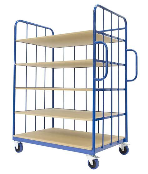 5 Shelf Storage Trolley | Trolleymaster Premium Quality ...