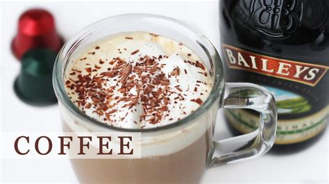Caramel vodka is added to baileys and coffee to create a chocolate truffle in drinkable form. Baileys Coffee Recipe for Holidays - Irish Coffee 베일리스 아이리쉬 커피 만들기 - YouTube