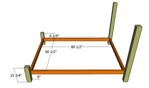 queen bed frame plans howtospecialist   build