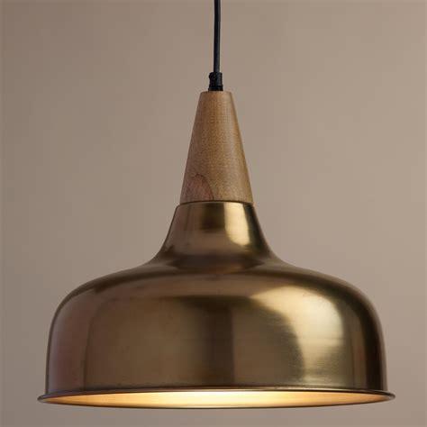 brass  wood glenn pendant lamp world market