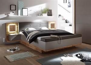 Bett 180 X 200 : doppelbett nachtkommoden capri xl bett ehebett schlafzimmer 180x200 grau eiche ebay ~ Eleganceandgraceweddings.com Haus und Dekorationen