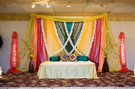perfect stage  mehndi night indian wedding decor