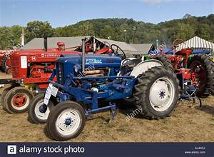 Antique 1964 Ford 2000 Offset Tractor On Display At Heritage Festival Stock Photo  14620289