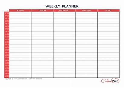 Weekly Calendar Sunday Saturday Days Planner Week