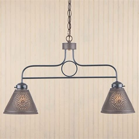 2 arm kitchen island pendant light in black