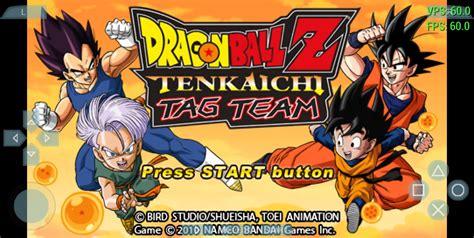 dragon ball  tenkaichi tag team android apk iso