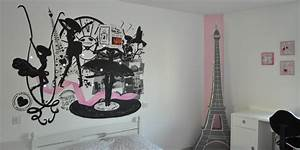 Deco chambre fille theme paris visuel 5 for Deco chambre fille paris