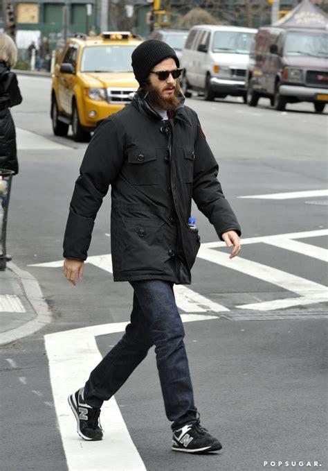 Andrew Garfield's long beard was on display in NYC on ...
