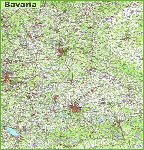 Bayern Städte Karte