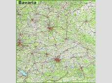 Large Bavaria Maps for Free Download and Print High