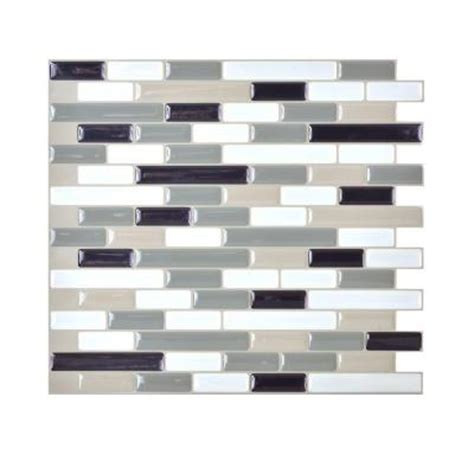 smart tiles muretto blues 10 20 in x 9 10 in peel and