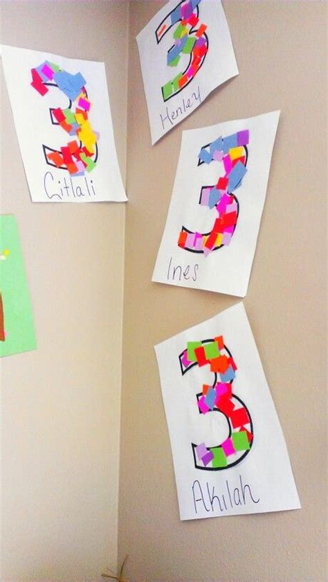 crafts actvities and worksheets for preschool toddler and 978 | number 3 craft idea