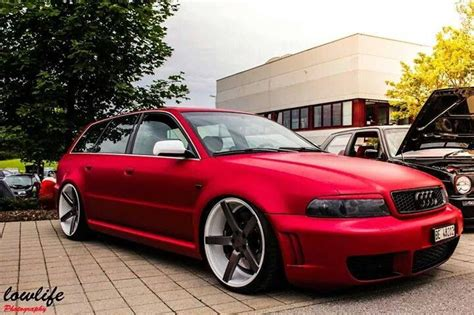 #audi A4 Avant #modified #custom Vossen Rims #slammed