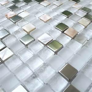 Mosaik Fliesen Perlmutt : glasmosaik edelstahl metall perlmutt mosaik weiss gt1006 m ~ Eleganceandgraceweddings.com Haus und Dekorationen