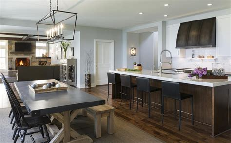 Brown Kitchen Island with Sleek Black Leather Counter