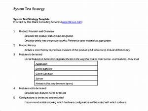 test strategy template 11 word pdf ppt documents With sample test strategy document template