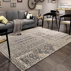Grand Tapis Chambre : moderne europe style tapis salon chambre chevet rectangulaire grand tatami tapis peut laver la ~ Teatrodelosmanantiales.com Idées de Décoration
