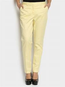 Pick Online | Vero Moda Women Cream-colored Slim Fit Pants | 510516