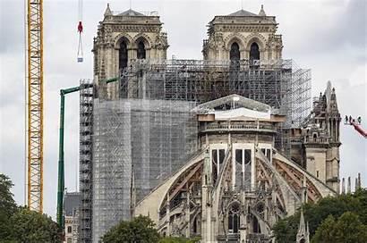 Dame Notre Paris Beginnt Kathedrale Begonnen Restauratie