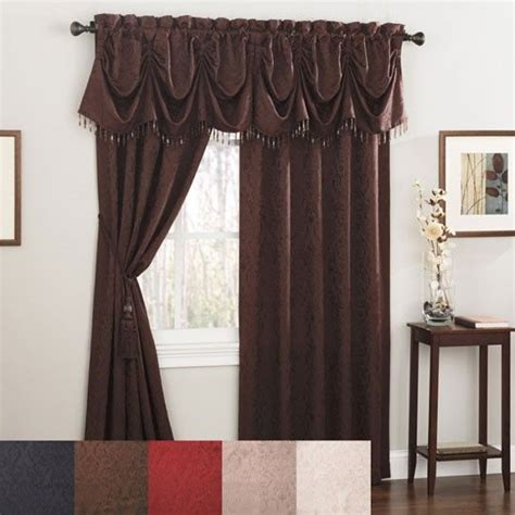 chocolate brown curtains for the home