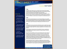 8+ fact sheet template microsoft wordReference Letters