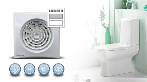 silent 100 wc bathroom axial extract fan