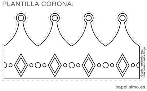 king crown template c 243 mo hacer una corona de goma con plantillas papelisimo