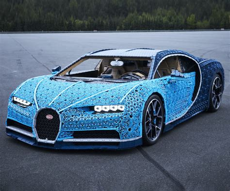 The cars were known for their design beauty and for their many race victories. Life Size Driveable LEGO Bugatti Chiron
