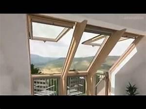 Dachbalkon Nachträglich Einbauen : velux cabrio dachbalkon dachterrasse 3d animation ~ Michelbontemps.com Haus und Dekorationen