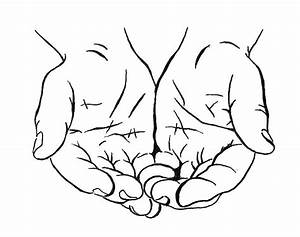 Drawing Cupped Hands Coloring Pages: Drawing Cupped Hands ...