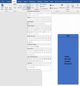 How To Create A Swimlane Diagram In Word
