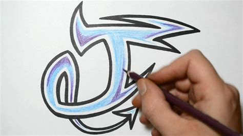t and j designs how to draw graffiti characters letter j