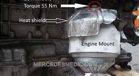 diy   change engine mounts mercedes benz mb medic