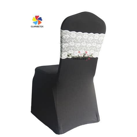 wholesale wedding spandex lace chair band with